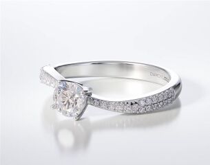 Engagement Ring with side stones LR223